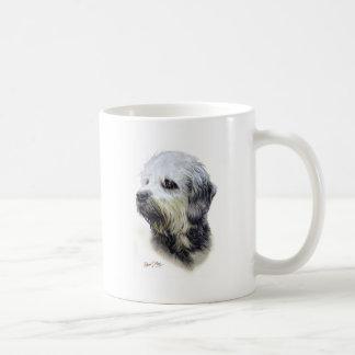 Dandie Dinmont Terrier Taza Básica Blanca