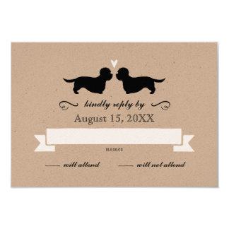 Dandie Dinmont Terriers Wedding RSVP Reply Card