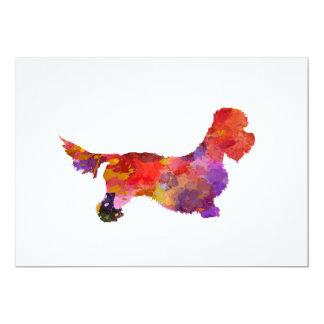 Dandie Dinmont to terrier in watercolor 2 Card