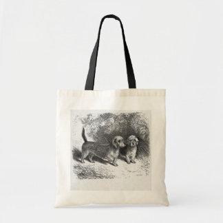 """""""Dandie Dinmonts"""" Tote Bags"""