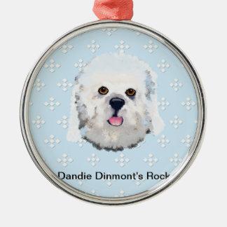 Dandie Dinmont's Rock Metal Ornament
