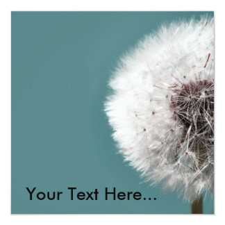 Dandilion Clock Teal Ad Your Text Here... Card