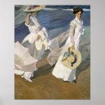 Dando un paseo a lo largo de la costa, 1909 poster