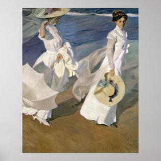Dando un paseo a lo largo de la costa, 1909 póster