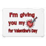 Dándole mi corazón para el el día de San Valentín iPad Mini Protectores