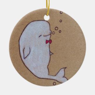 dandy beluga ceramic ornament