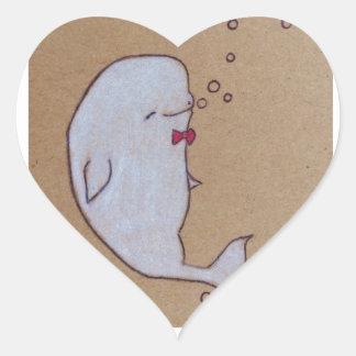 dandy beluga heart sticker