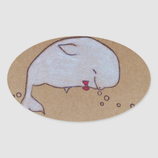 dandy beluga oval sticker