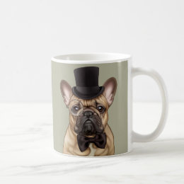 Dandy Chic French Bulldog Coffee Mug