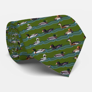 Dandy Ducks Tie (Dark Green)