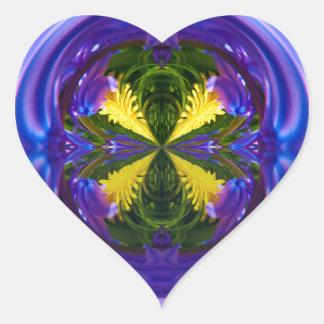 Dandy Four Abstract Globe Heart Sticker