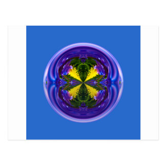 Dandy Four Abstract Globe Postcard