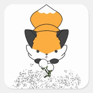 Dandy Fox Square Sticker