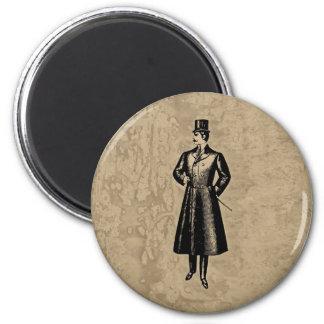 Dandy Gent 2 Inch Round Magnet