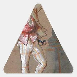 Dandy in Paris by Paul Gavarni Triangle Sticker