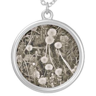 Dandy-lion Love Round Pendant Necklace