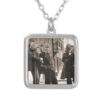 """""""Dandy Lions"""" Silver Plated Necklace"""
