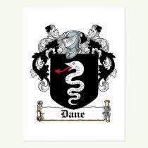 Dane Family Crest Postcard