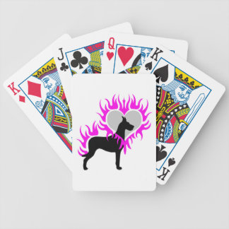Dane on Fire Bicycle Playing Cards