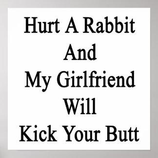 Dañe un conejo y mi novia golpeará su con el pie p impresiones