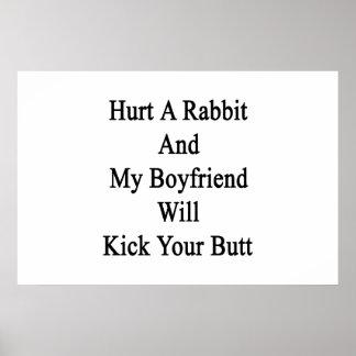 Dañe un conejo y mi novio golpeará su extremo con  impresiones