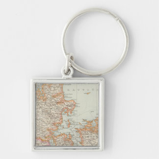 Danemark - Denmark Map Keychain