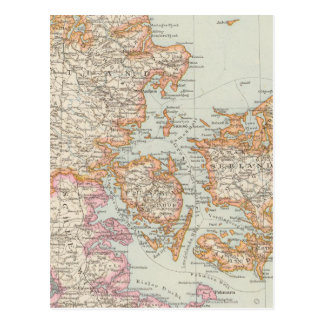 Danemark - Denmark Map Postcard
