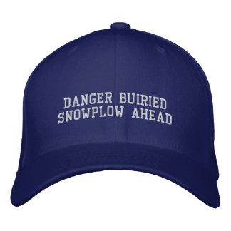 DANER BURIED SNOWPLOW AHEAD EMBROIDERED BASEBALL HAT