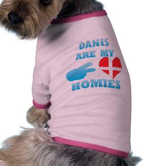 Danes are my Homies Pet Tshirt