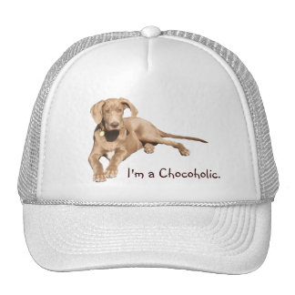 Danés del chocolate con leche - soy un Chocoholic. Gorras