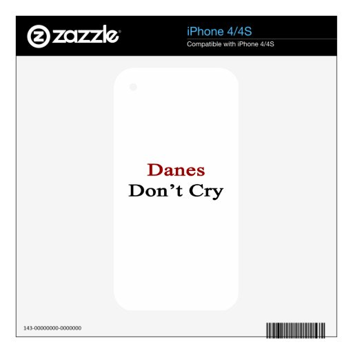 Danes Don't Cry Skin For iPhone 4