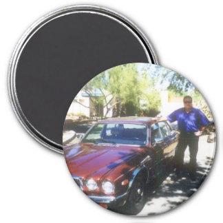 Dane's Jaguar 3 Inch Round Magnet