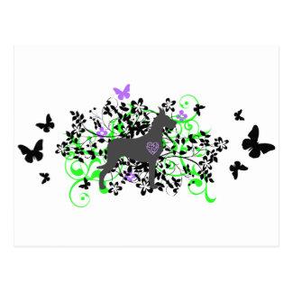 Daneses de la mariposa postales