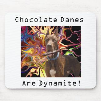 Daneses del chocolate de la dinamita alfombrilla de raton