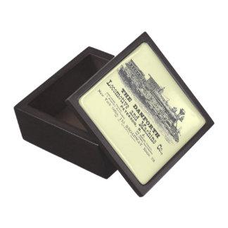 Danforth Locomotive and Machine Company 1852 Jewelry Box