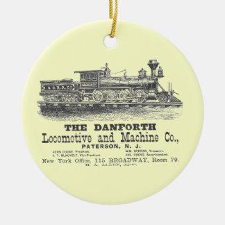 Danforth Locomotive y Machine Company 1852 Adorno Navideño Redondo De Cerámica