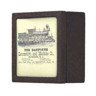 Danforth Locomotive y Machine Company 1852 Caja De Joyas De Calidad