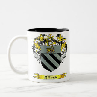 D'Angelo Shield of Arms Two-Tone Coffee Mug