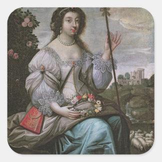 d'Angennes de Julia como Astree Pegatina Cuadrada