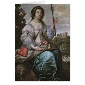 d'Angennes de Julia como Astree Tarjeta De Felicitación