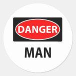 danger2m etiqueta redonda