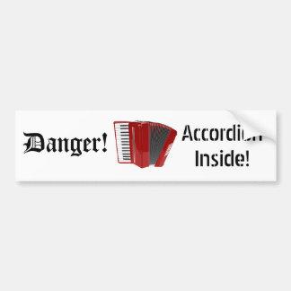 Danger! Accordion Inside! (02) Bumper Sticker