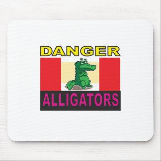 danger aligators mouse pad