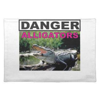 danger alligator pink placemat