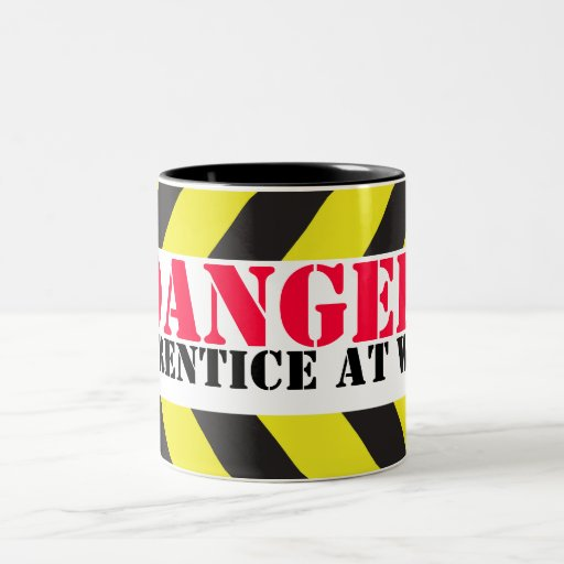 Danger apprentice at work chevron workers mug