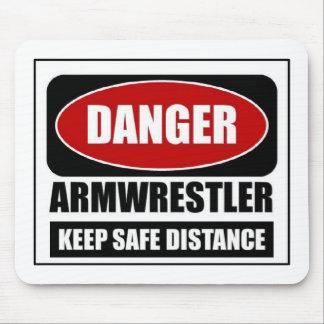 Danger Armwrestler Mouse Pad