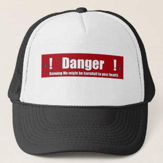 Danger around trucker hat