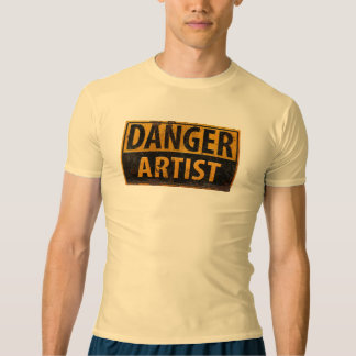 DANGER ARTIST Cool Distressed Metal Rust Sign T-shirt