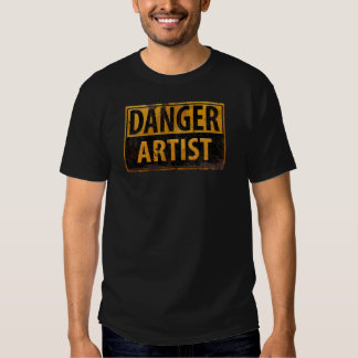 DANGER ARTIST Distressed Metal Rust Sign Funny T-shirt