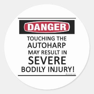 Danger Autoharp Classic Round Sticker